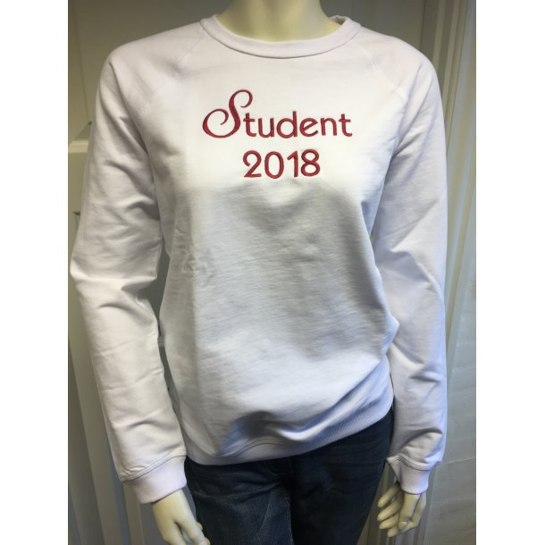 Studenter sweatshirt med broderi   - 2 modeller dame og herre